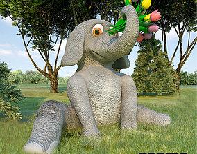3D asset game-ready Baby Elephant