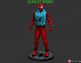 Scarlet Spider -Spider man - Marvel 3D printable model 3