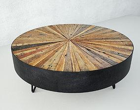 Salvaged Round Pinwheel Coffee Table 3D model