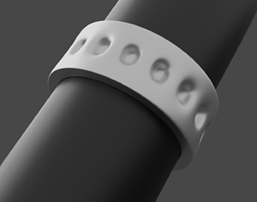 3D printable model Ring with holes
