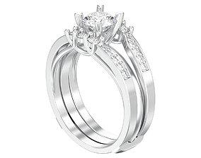 3D printable model Round split shank engagement diamond