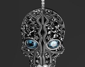 3D print model Jolly Roger pendant