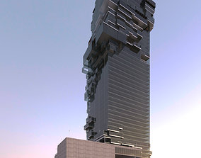 3D model Revit Skyscraper Design for Mixed Use