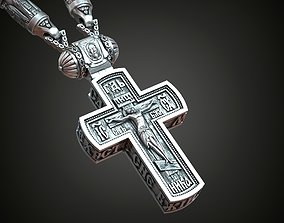 3D print model Cross Orthodox Saints Jesus cherub
