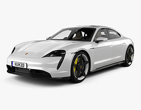 Porsche Taycan Turbo S with HQ interior 3D model