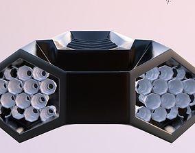 3D model simple spaceship