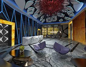 3D model Hotel entertainment KTV bar disco Sing 0112