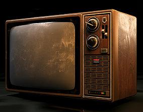3D asset Antique TV Old Television