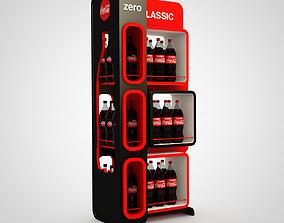 coca-cola display stand 3D model