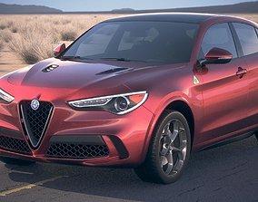 3D model Alfa Romeo Stelvio Quadrifoglio 2018 desert