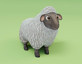 Sheep 3D Model game-ready
