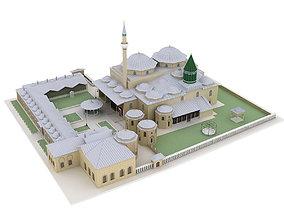 3D The Mevlana Museum mosque mausoleum