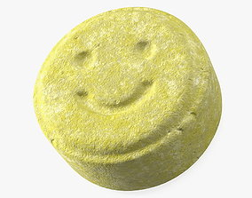 Ecstasy Pill with Smiley 3D model