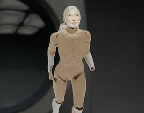 3D model Linda-058 - military android