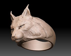 ring lynx figurine 3D print model