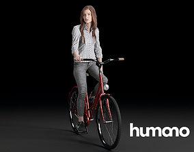 3D Humano Biking Woman 0708