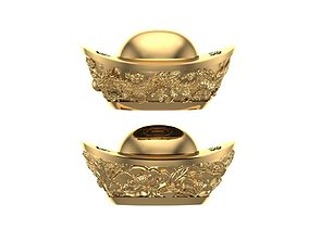 Gold Dragon Ingots 3D printable model