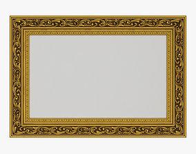 3D Frame picture gold v6
