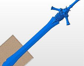 Devil May Cry 3D sword Dante Rebellion STL print model