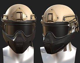 3D model Helmet military combat armor soldier