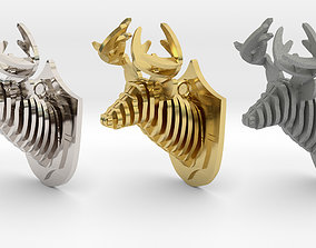 Deer Head Pendant 3D print model