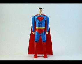 Superman Low Poly 3D printable model