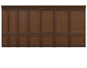3D asset VR / AR ready Threaded wood panels 014