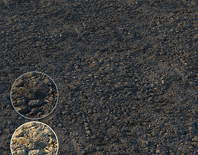 Loosened ground material 02 3D model