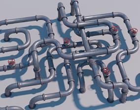 3D model Modular Pipes set