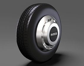 3D model Iveco Daily Minibus front wheel 2017