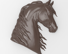 Horse head bas relief for CNC 3D printable model