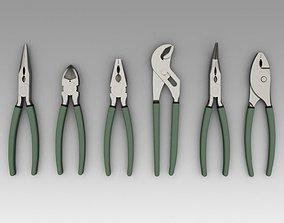 Pliers cutting 3D model