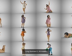 3D model female Long Summer 2