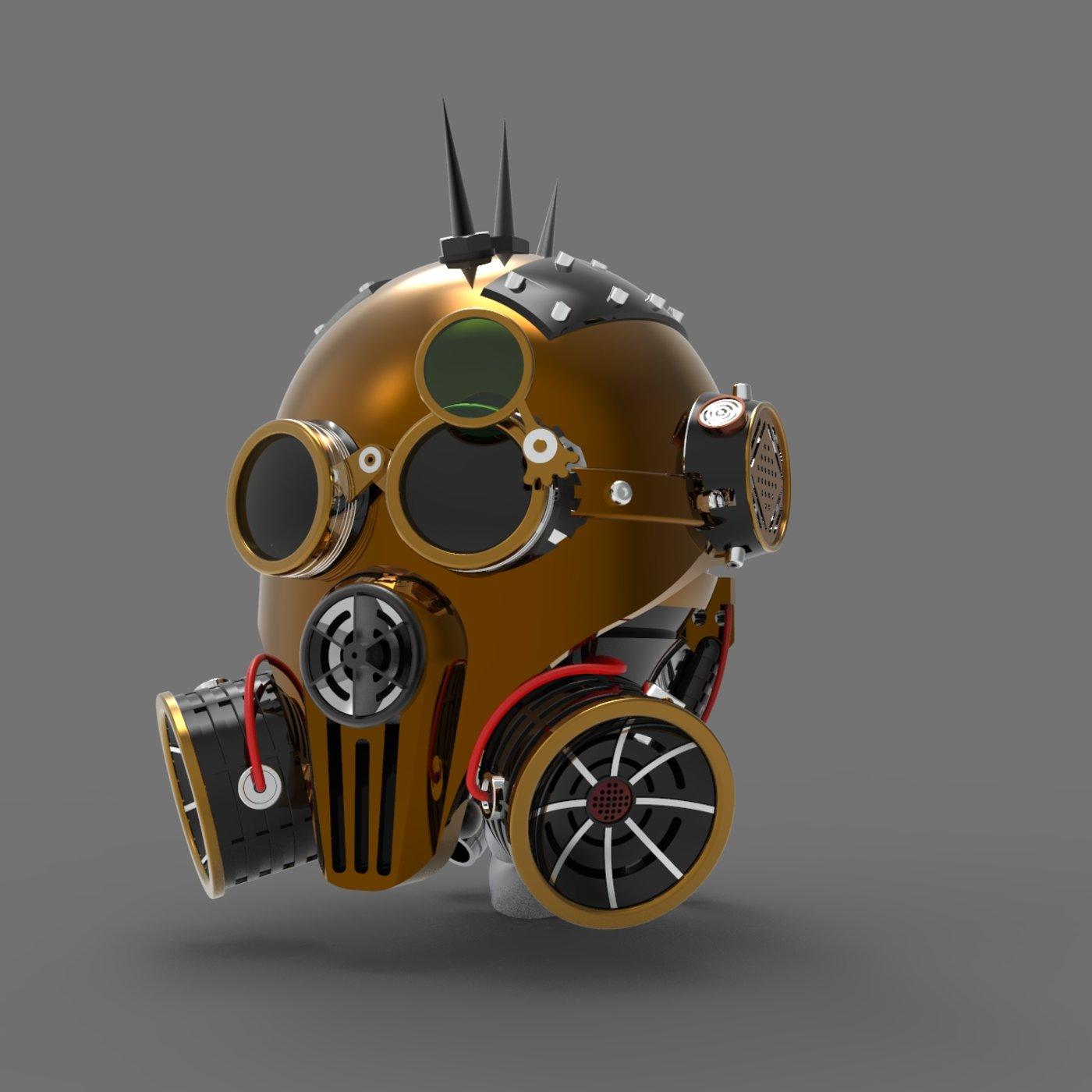 Steam Punk Head Helmet
