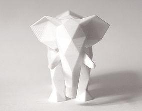 3D printable model Lowpoly Elephant Sculpture
