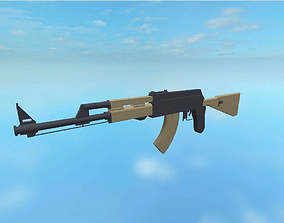 3D model AK-47 Texture less Low Poly