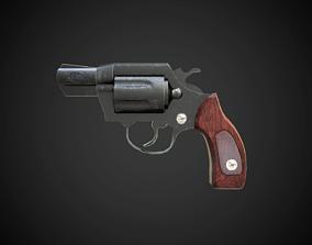 Colt revolver 3D model low-poly