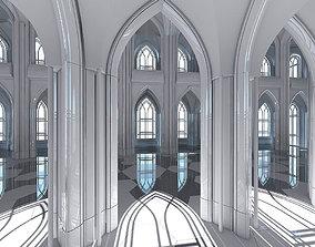 3D Cathedral Interior Futuristic