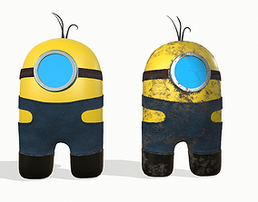 3D asset Among Us in the style of Minion