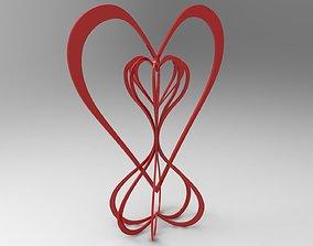 Hearts Around the World 3D print model