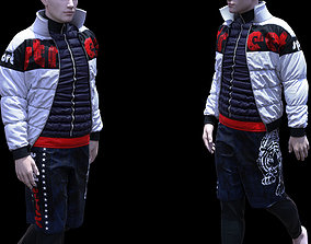 Mens sportswear Marvelous Designer project 3D