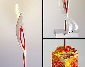 3D model Olympic flame