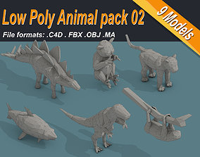 Low Poly Animal Isometric Icon Pack 02 3D model