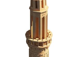 3D model Islamic Mamluk Minaret