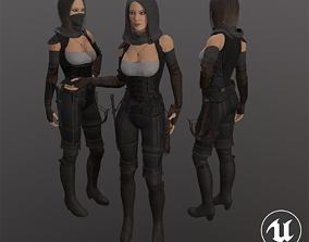 Hunter Woman 3D asset