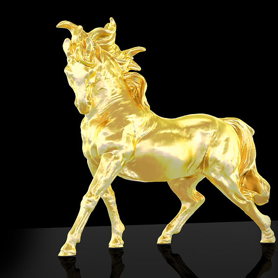 Running horse Figure Sculpture Printable 3D print model