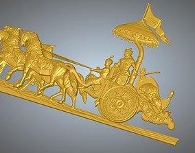 3D print model Krishna Arjuna Chariot Bhagwad Geeta