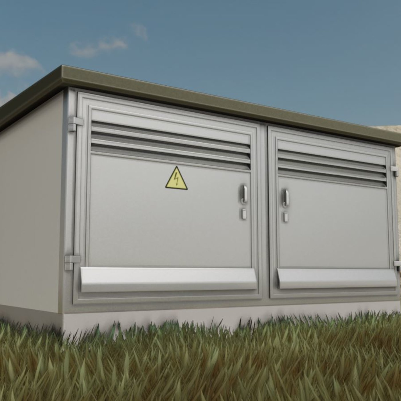 Transformer Station PBR-Textured High-Poly Version