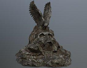 skull gate 3D model low-poly