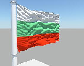 3D model Bulgaria flag